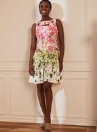 Robe fleurie à détail troué, Blanc