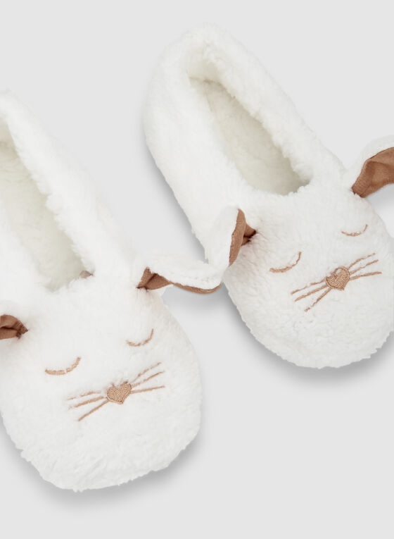 Bunny Slippers, White