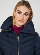 Anne Klein - Quilted Coat, Blue, hi-res