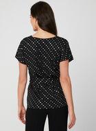 Belted Jersey Top, Black, hi-res