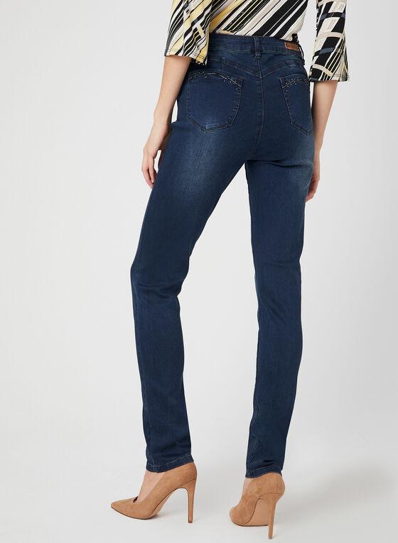 Simon Chang - Modern Fit Slim Leg Jeans, Blue, hi-res