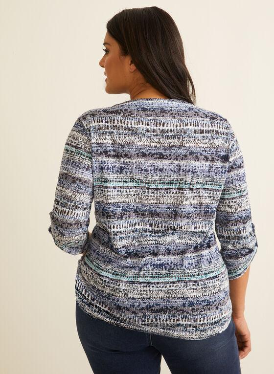 Haut motif aztèque à liens, Bleu