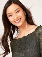 Ombré Glitter Lace Dress, Black, hi-res