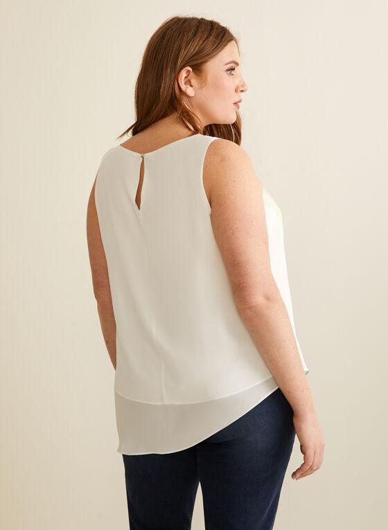 Sleeveless Asymmetric Top, White