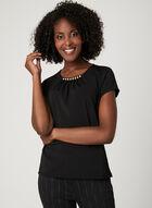 Pearl Embellished T-Shirt, Black, hi-res
