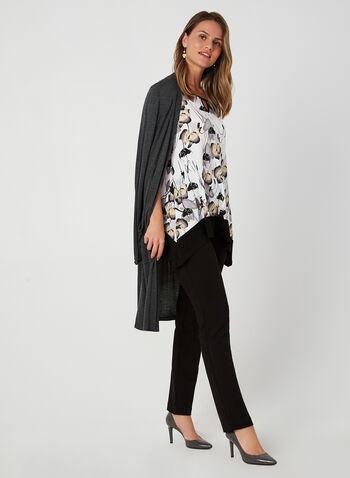 Cold-Shoulder Jersey Top, White, hi-res,  fall winter 2019, jesrey fabric, cold shoulder