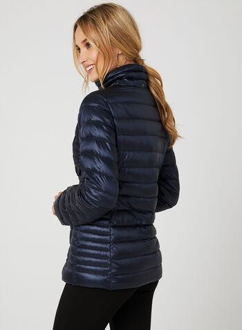 Manteau en duvet compact ultra léger , Bleu, hi-res