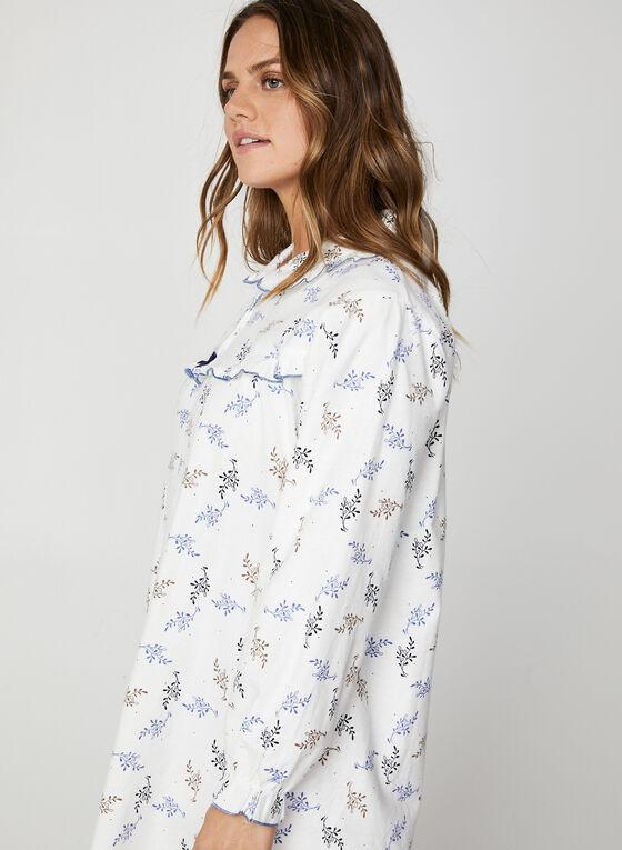 Karmilla Lingerie - Chemise de nuit à détails volantés, Blanc