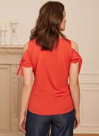 Haut à épaules ajourées et détail lien, Orange