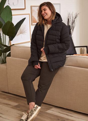 Pantalon à enfiler à jambe droite, Vert,  pantalon, bas, à enfiler, pull-on, jogging, élastique au dos, poches cavalières, confortable, extensible, automne hiver 2021, basique