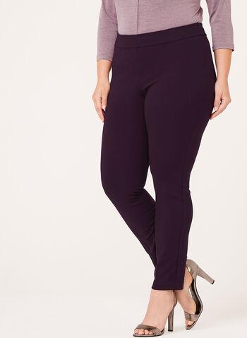 Pull-On Slim Leg Pants, , hi-res