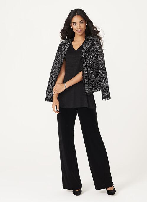 Sleeveless Knit Tunic, Black, hi-res