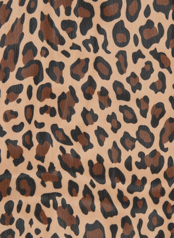 Leopard Print Scarf, Brown, hi-res,  fall winter 2019, scarf, animal print