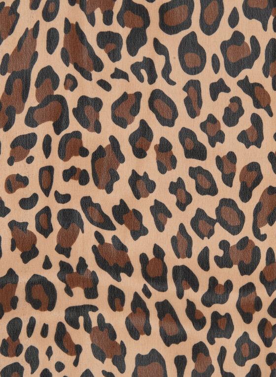 Leopard Print Scarf, Brown