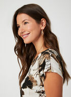 Floral Print Jersey Top, White