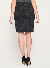 Lace Print Ponte Pencil Skirt, Grey, hi-res