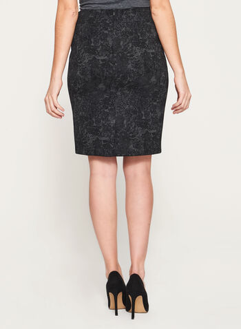 Lace Print Ponte Pencil Skirt, , hi-res
