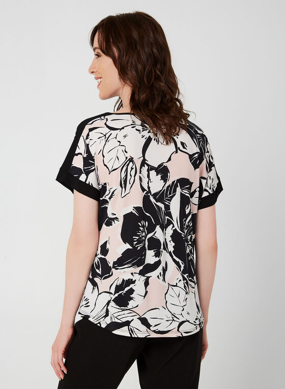 Floral Print Top, White