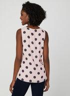 Polka Dot Print Sleeveless Top, Multi, hi-res