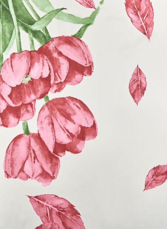 Foulard léger motif tulipe, Rose