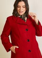 Manteau structuré en molleton, Rouge