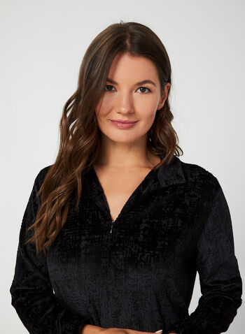 Hamilton - Velour Nightgown, Black,  Canada, Hamilton, sleepwear, pyjama, velour, fall 2019, winter 2019
