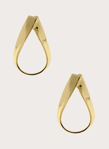 Boucles d'oreilles à pendant ajouré en goutte d'eau , Or, hi-res