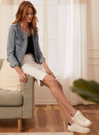 Jacquard Bermuda Shorts, White
