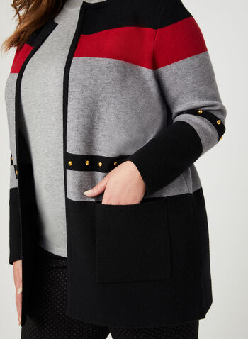 9301166608 Colour Block Knit Cardigan