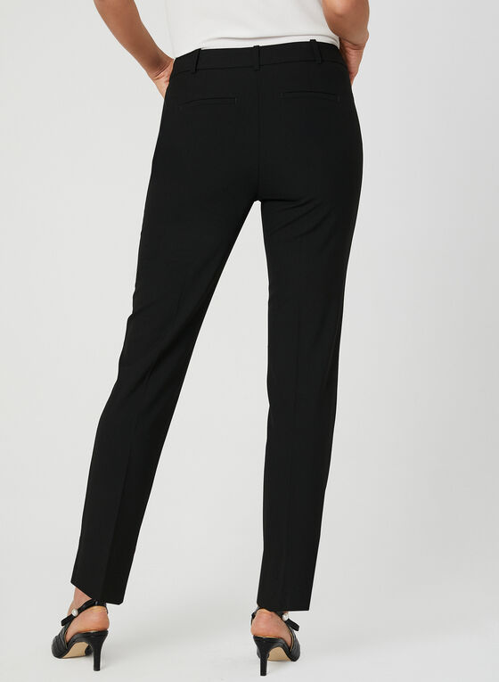 Cropped Straight Leg Pants, Black
