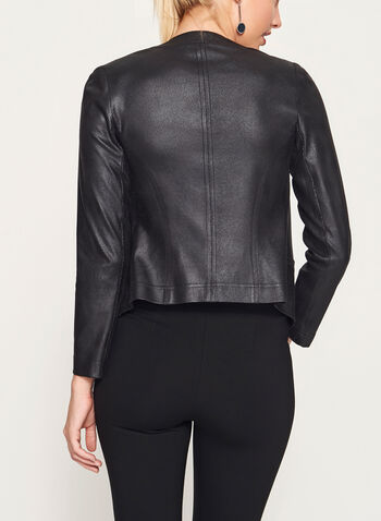 Vex - Faux Suede Studded Blazer, Black, hi-res