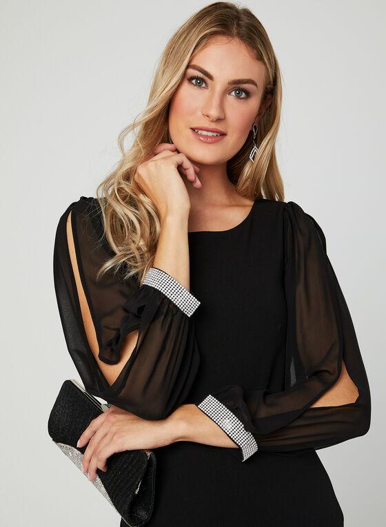 Balloon Sleeve Jumpsuit, Black, hi-res