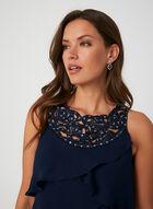 Sequin Detail Tiered Dress, Blue
