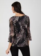 Abstract Animal Print Top, Multi