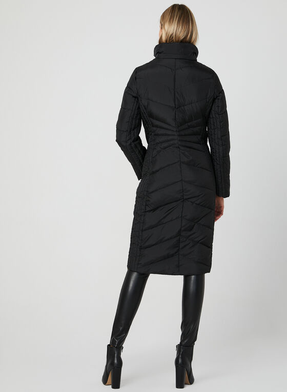 Anne Klein - Long Down Coat, Black
