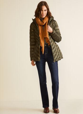 Bernardo - Manteau EcoPlume™ compressible, Vert,  automne hiver 2020, manteau, matelassé, duvet, compressible, Bernardo, col montant, capuchon, zip, poches