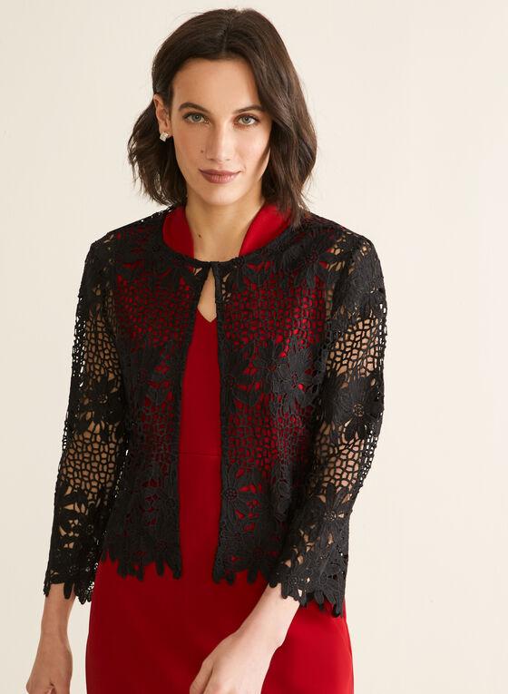 Floral Crochet Top, Black