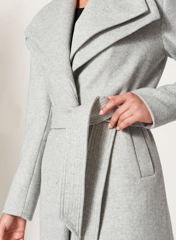 Manteau en laine et double col à revers, Gris, hi-res