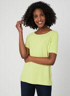 Boat Neck T-Shirt, Green, hi-res