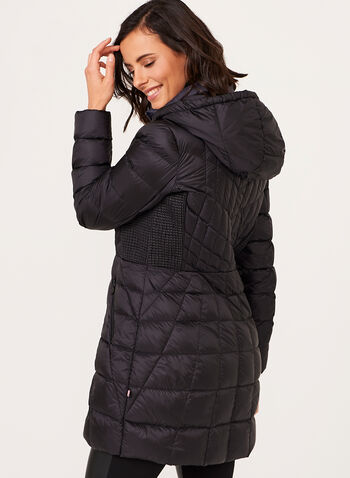B by Bernardo - PrimaLoft® Down Filled Packable Coat, Black, hi-res