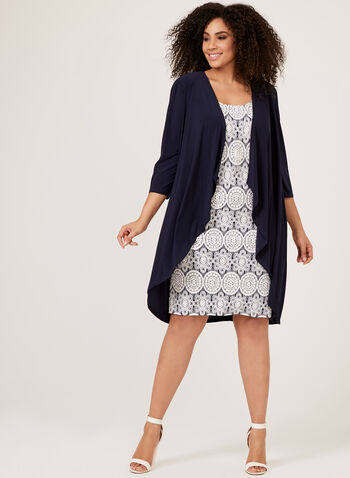 Puff Print Dress & Duster Set, Blue, hi-res