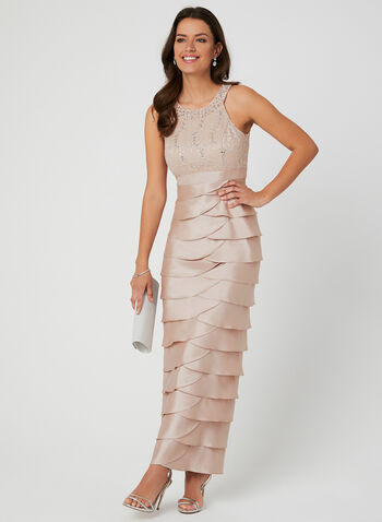 Jessica Howard - Sequin Lace Cleo Neck Dress, Pink, hi-res