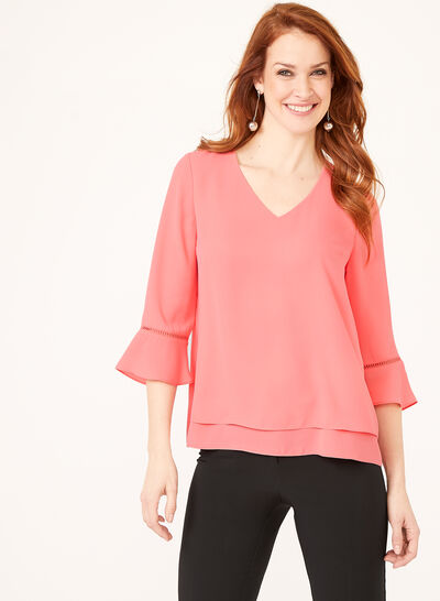 Double Layer Crepe Blouse