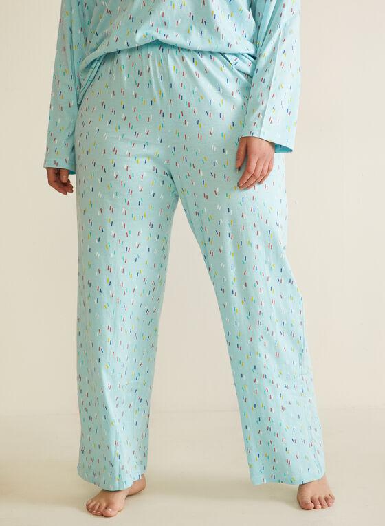 Confetti Print Pyjama Set, Blue