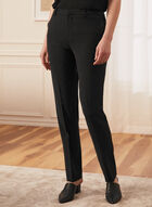 Louben - Modern Fit Straight Leg Pants, Black