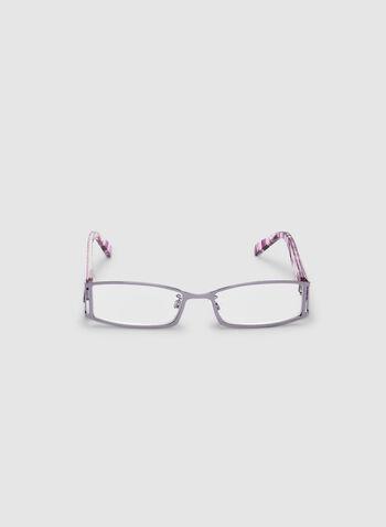 Lunettes de lecture à motif géométrique, Violet, hi-res,  automne hiver 2019, lunettes, lecture, géométrique