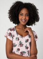 Floral Print Nightgown, Pink, hi-res