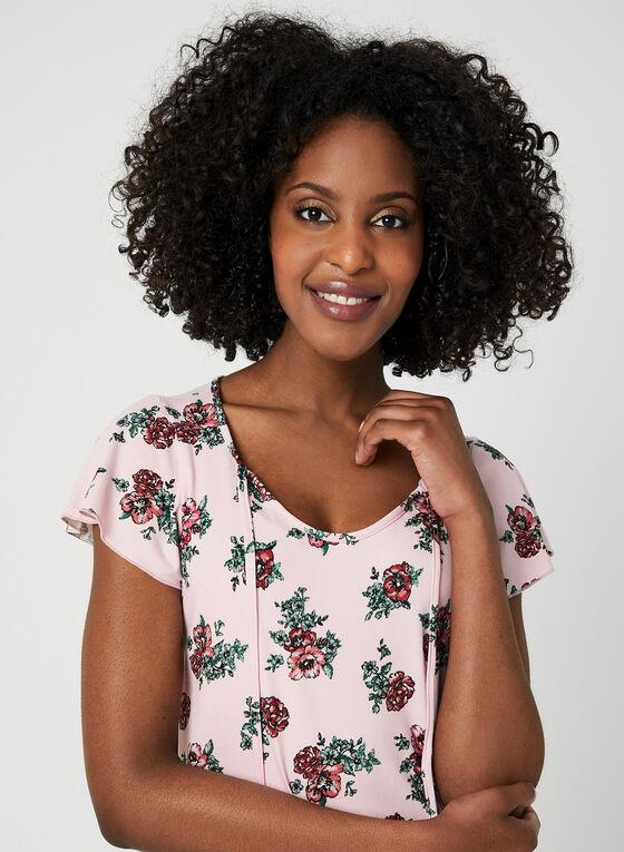 Chemise de nuit motif floral, Rose, hi-res