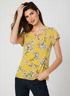 Floral Print Jersey Blouse, Yellow, hi-res