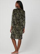 Printed Velour Nightgown, Brown, hi-res